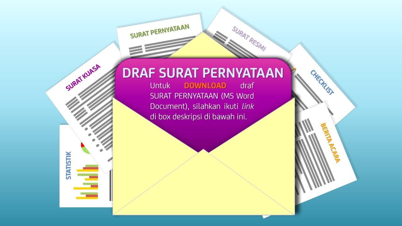 Download Draf Surat Pernyataan Youtube