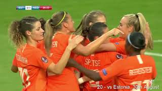 All 53 of Vivianne Miedema's goals in 2019