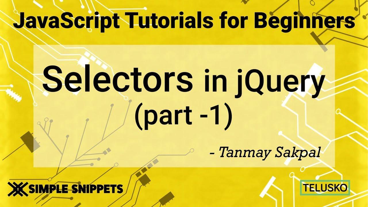 #37 JQuery Selectors Part 1 - YouTube
