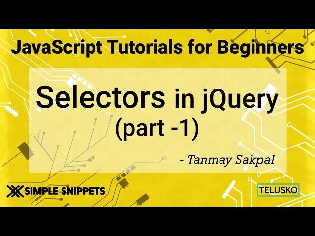#37 JQuery Selectors Part 1