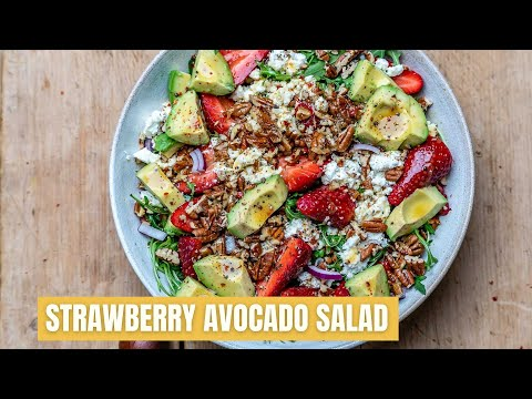 Cucumber, Avocado Strawberry Salsa