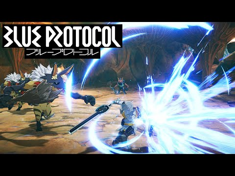 Blue Protocol PC MMO - JP Alpha Test - Aegis Fighter Leveling Gameplay