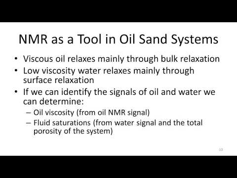 Introduction to NMR for Heavy Oil & Bitumen