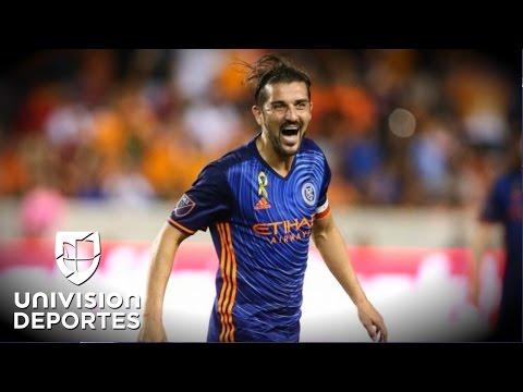David Villa se robó el show en triunfo de New York City FC 2-0 en casa del Houston Dynamo