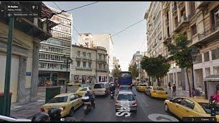 Часть 34. Город Афины. Part 34. City Athens(Картографические данные: Google, DigitalGlobe Map data : Google, DigitalGlobe Видео создано на основе дорожных панорам и Карт Google..., 2017-01-17T06:17:15.000Z)