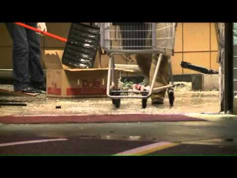 Truck slams through supermarket in Ohio City