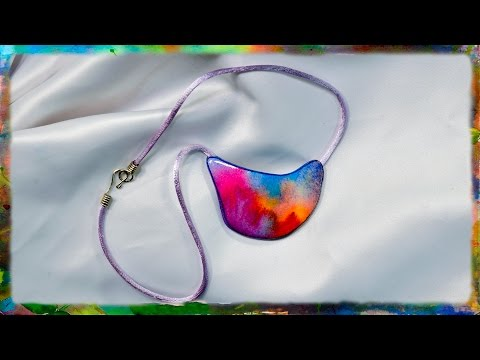 How to Create the Watercolor Paper Pendant, Part 2 by Ross Barbera