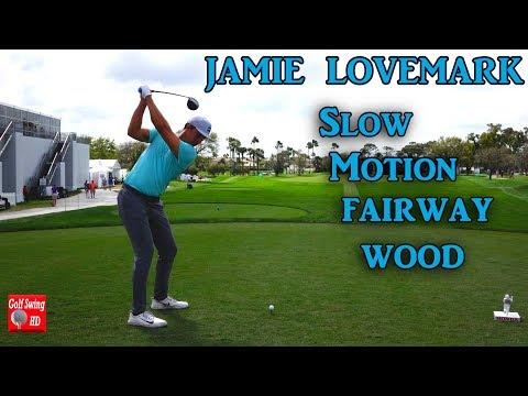 JAMIE LOVEMARK 120fps DTL SLOW MOTION FAIRWAY WOOD GOLF SWING 1080 HD
