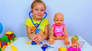 Играем в Доктора - Ева доктор. Кукла Беби Бон заболела и её надо вылечить - Игры для детей