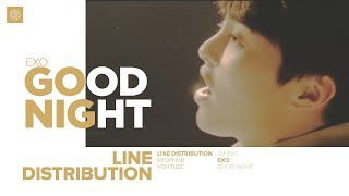 EXO - GOOD NIGHT (Line Distribution)