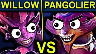 PANGOLIER VS DARK WILLOW - DOTA 2 PATCH 7.07 NEW META PRO GAMEPLAY (MID ONLY)