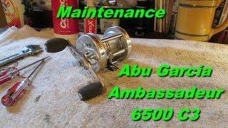 abu garcia ambassadeur c3 6500 fishing reel maintenance