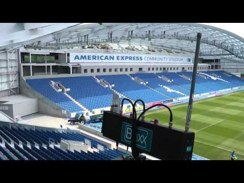 VidOvation.com - Meridian Wireless HD SDI Camera Mount Transmission System At Soccer Stadium