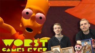 Worst Games Ever #4 - The Simpsons Skateboarding