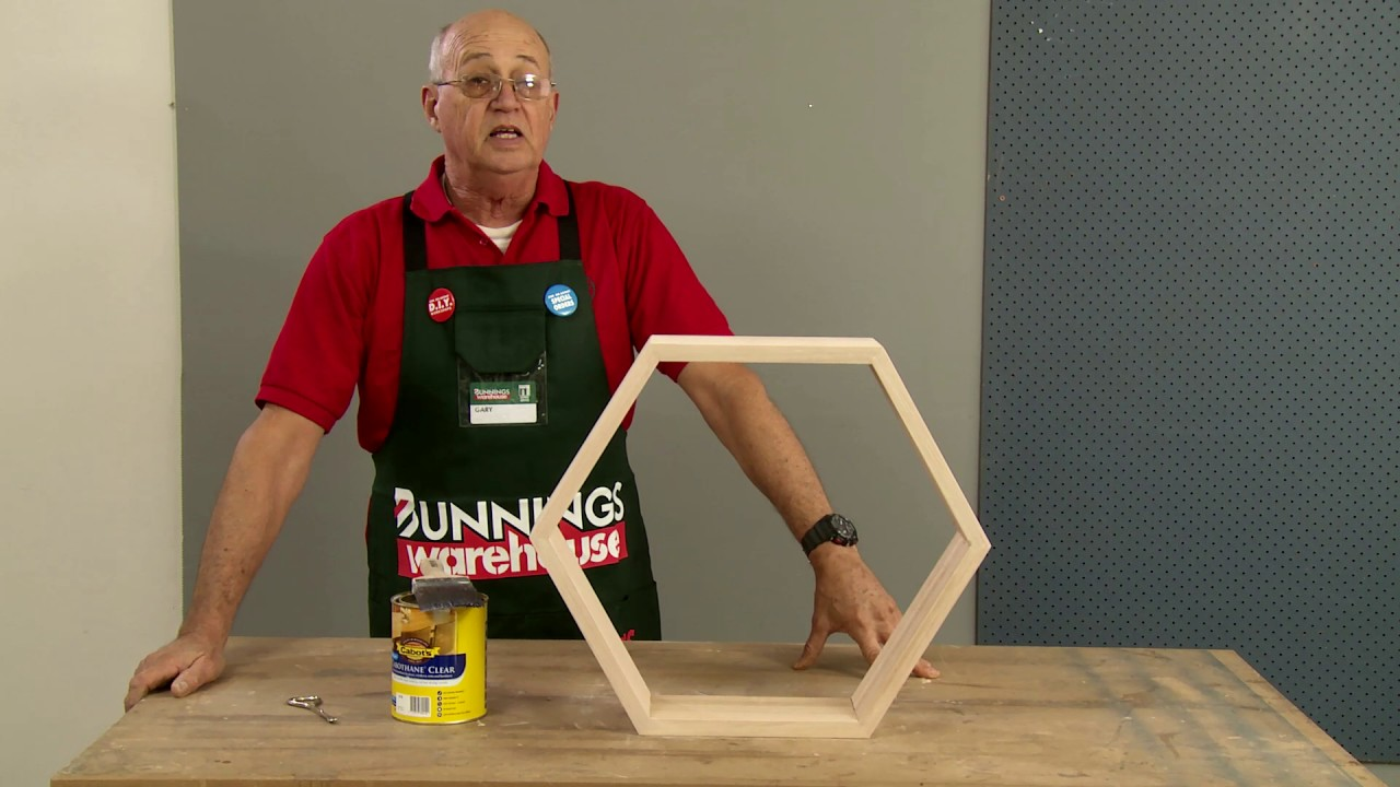 How To Make D I Y  Honeycomb Floating Wall Shelves - D I Y  At Bunnings