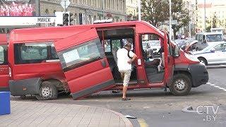 Очевидец о крупной аварии около ЦУМа