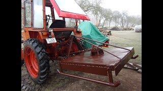 Самодельная цепная Косилка  в работе с трактором т-25