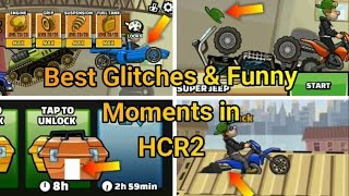 Top 5 Glitches/Funny Moments In Hill Climb Racing 2
