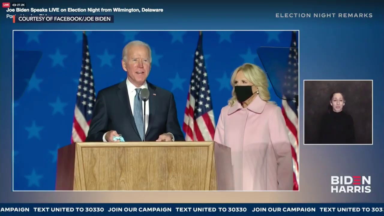 US Elections: Joe Biden delivers speech