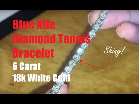 Review: Blue Nile Diamond Tennis Bracelet 6 Carat 18k White Gold