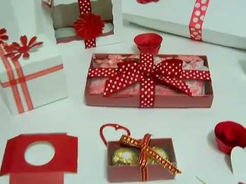 Cajas para cupcake y chocolates youtube for Cajas personalizadas con fotos