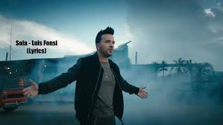 Luis Fonsi Sola English Version lyrics