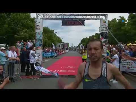 Arrivée du Marathon de Poitiers-Futuroscope 2018