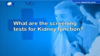 What Are The Screening Tests For Kidney Function? - DesiMD