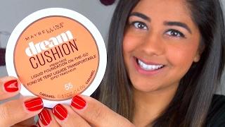Maybelline DREAM CUSHION Foundation ♥ 1st Impressions, Demo, & Wear Test!