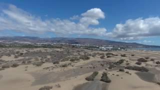 DJI spark flying Gran Canaria beach maspalomas holiday