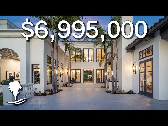Inside a $6,995,000 CUSTOM Estate in Rancho Santa Fe, California