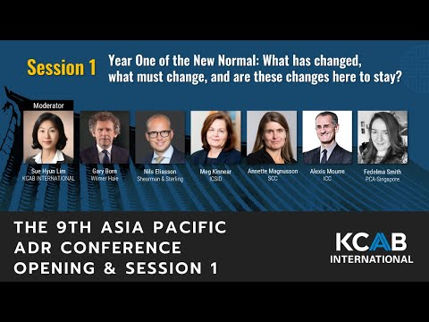[SAF 2020] The 9th Asia Pacific ADR Virtual Conference Session 1