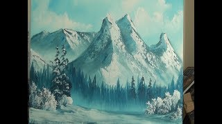 Cold Mountains  - Wet on Wet - Landscape Painting