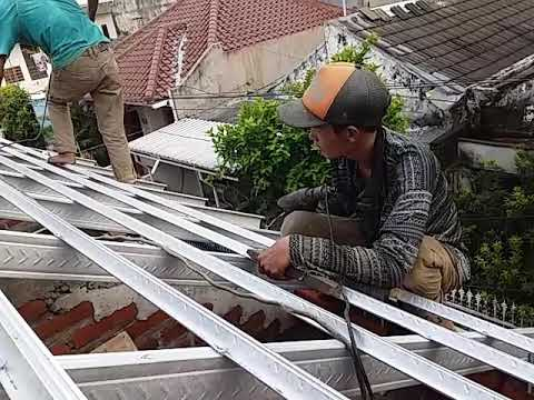jarak reng baja ringan atap galvalum pemasangan youtube