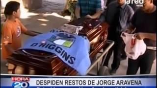 Despiden restos de Jorge Aravena, detenido que murió en furgón policial