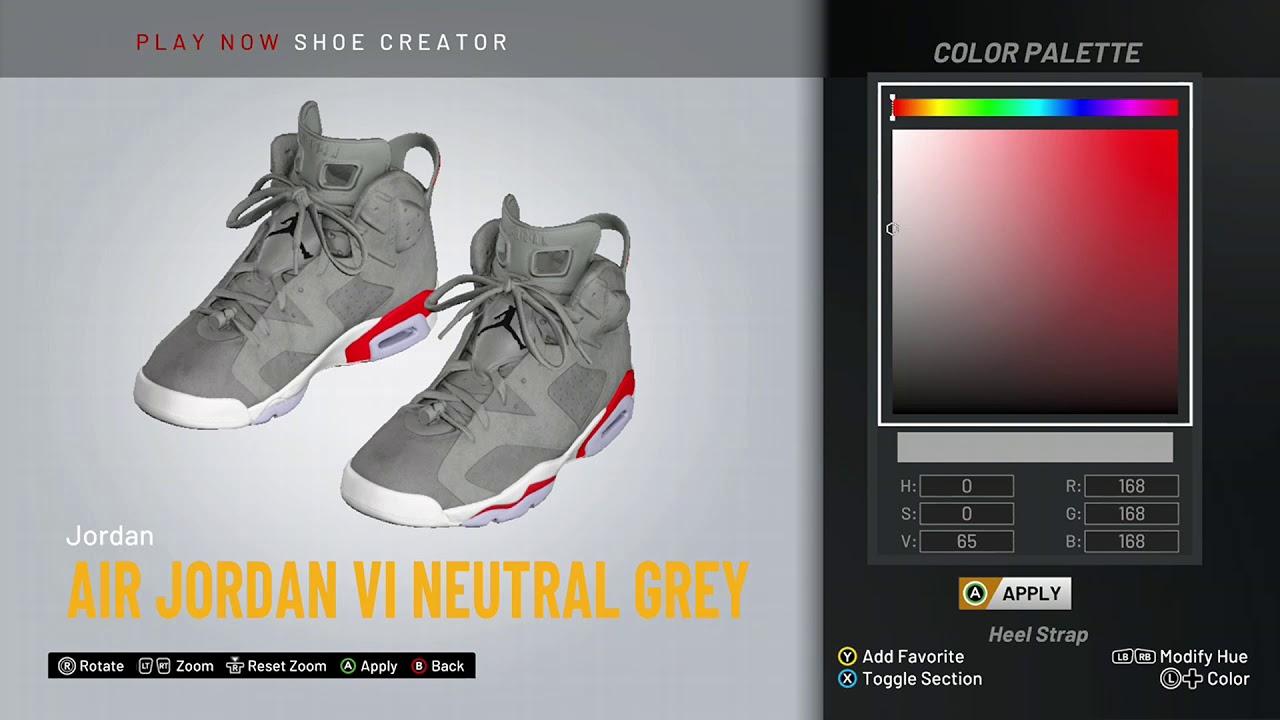 NBA 2K20 Shoe Creator - Air Jordan 6