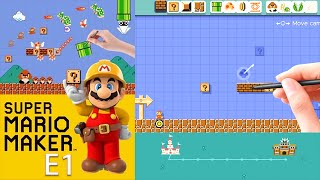 Super Mario Maker - First Looks at Editing and 10 Mario Challenge (E1)