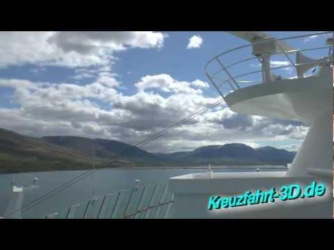 AIDAmar Reisebericht Tag 9 - Einlaufen + Auslaufen AIDA In Akureyri 17.06.2012 (Island) (HD / 2D)