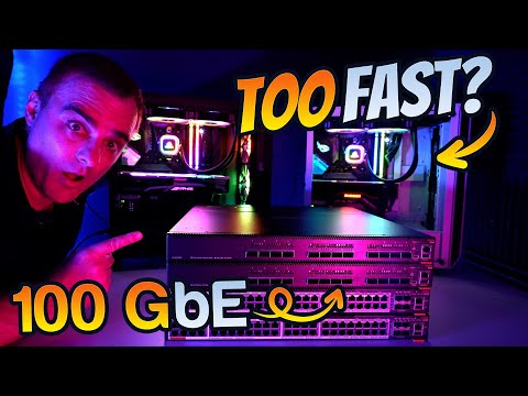 This is just too fast! 100 GbE // 100 Gigabit Ethernet!