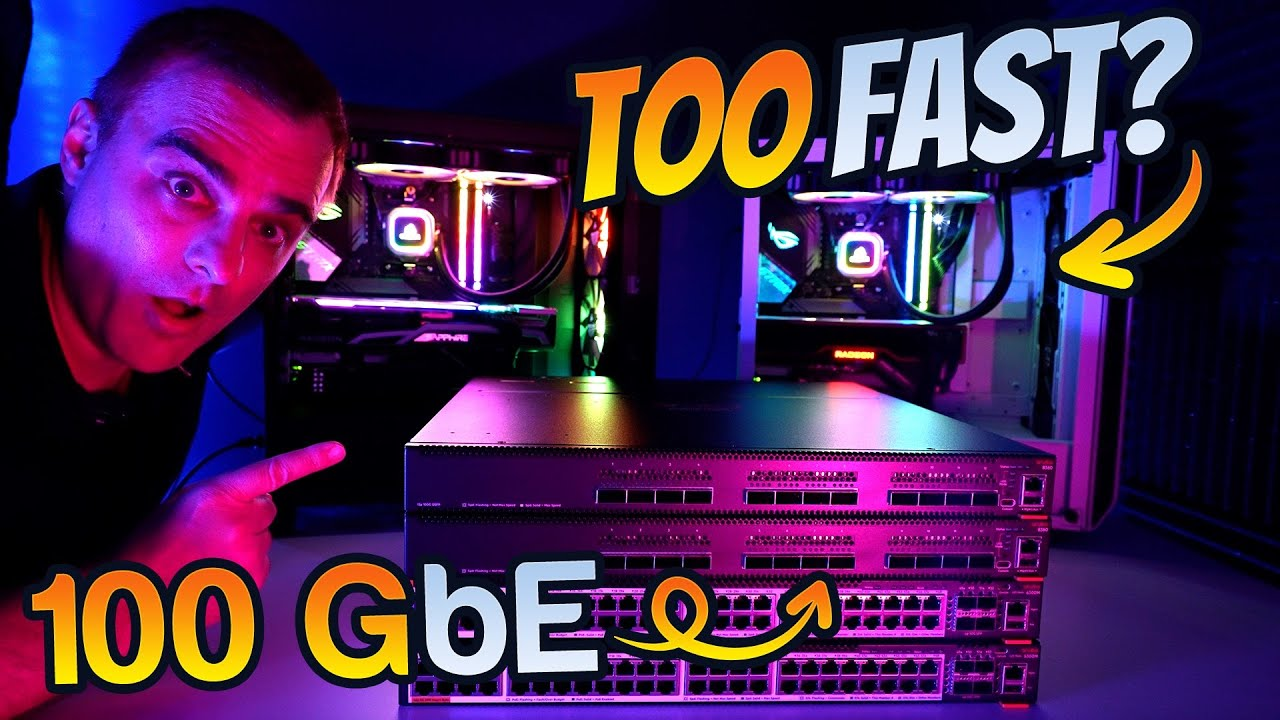 100 Gig Ethernet! PC vs Switch: Who's faster?