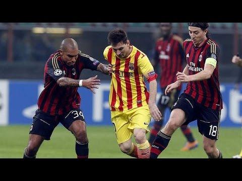 Ac Milan Vs Barcelona 1 1 2013 14 Barcelona Vs Ac Milan 1 1 2013 14 Ac Milan 1 1 Barcelona Hd Youtube