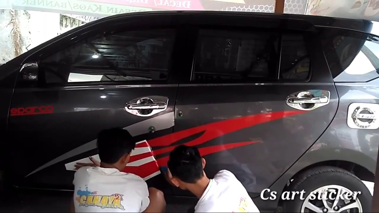 600 Gambar Modif Stiker Mobil Sigra HD