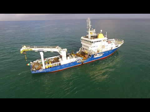 DJI Phantom 3 Advanced - Granuaile Buoy Laying Vessel Operating Off Portrush Coast