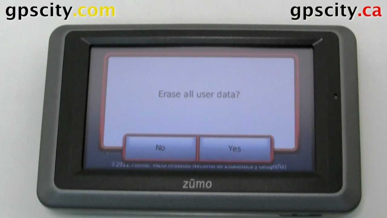 Garmin Nuvi Update >> How to Reset the Garmin zumo 660 and zumo 665 series - YouTube