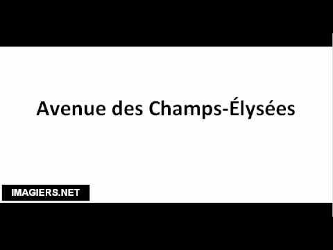 Champs elysees lyrics translation
