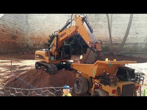 Rc Escavator 1550 Rc Bolldozer 1520 Rc Dumping Truck 1540 Huina Toys