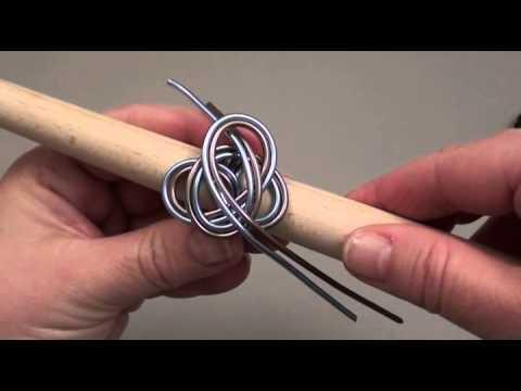 bague et pendentif en fil d alu