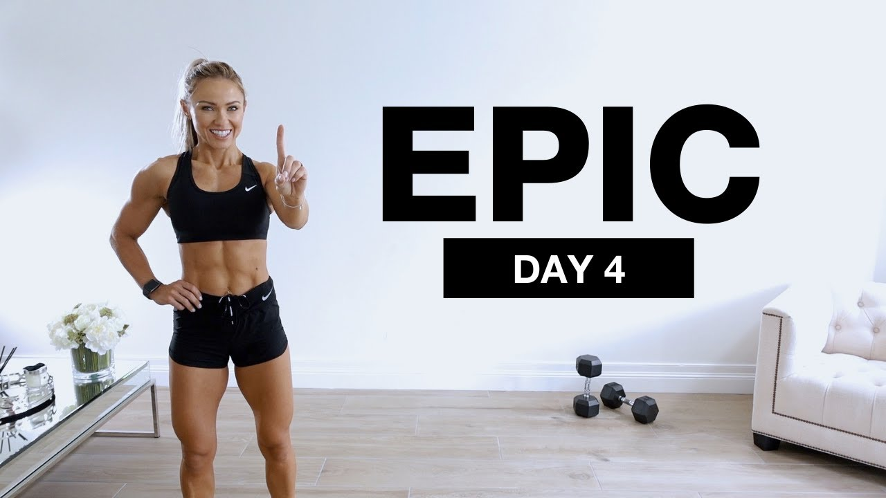 Download DAY 4 of EPIC | 1 Hour Dumbbell Full Body Workout Core Focus