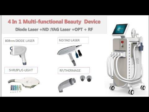 Diode Laser + IPL Laser + NDYAG Laser + RF Laser Hair Removal Machine