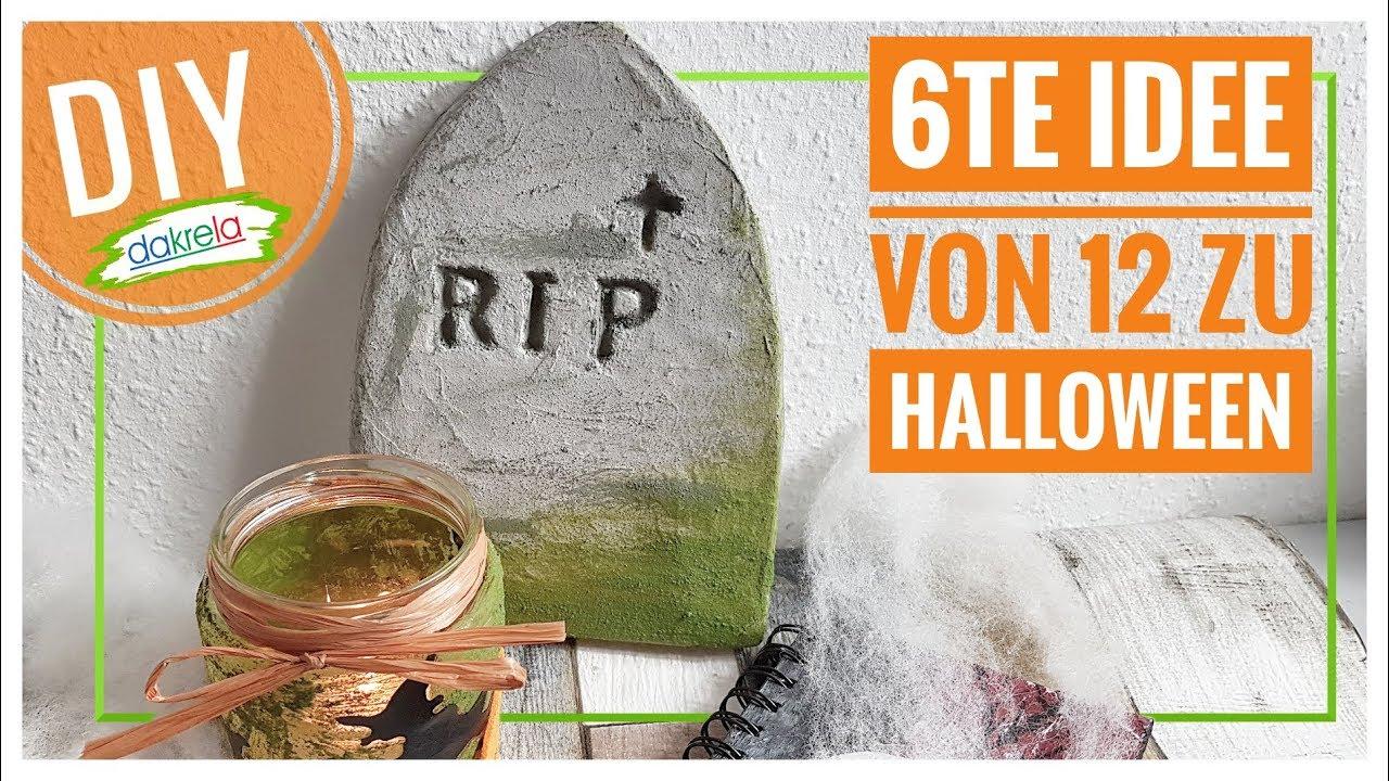 Kleinen Grabstein Zur Deko Basteln Halloween Diy Nr 6 Von 12 Ideen Tutorial Anleitung Deutsch Youtube